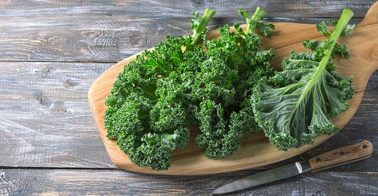 Kale is a healthy good food for arthritis in joints.
