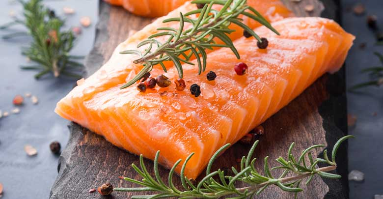 Salmon is a good food for arthritis sufferers, as it is rich in Omega 3