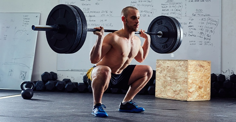 Avoid deep barbell squats as a torn meniscus exercise.