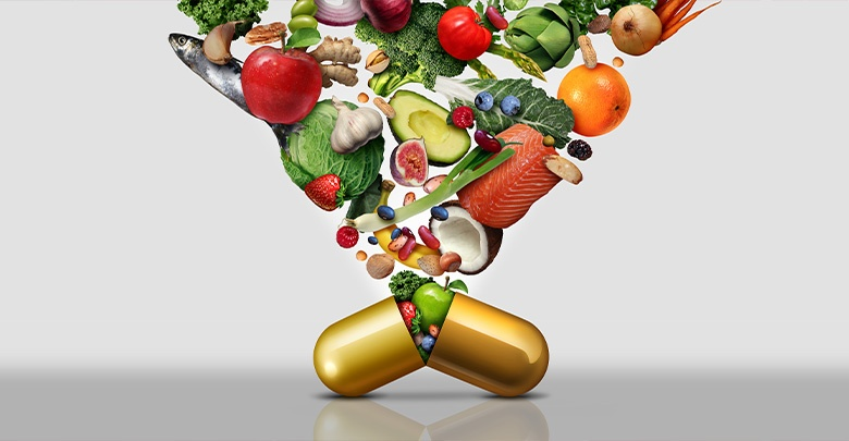 Vitamins should mostly come from food sources rather than in pill form
