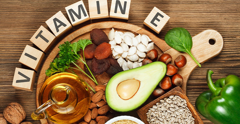 Vitamin E in immune boosting foods such as avocados, nuts and seeds