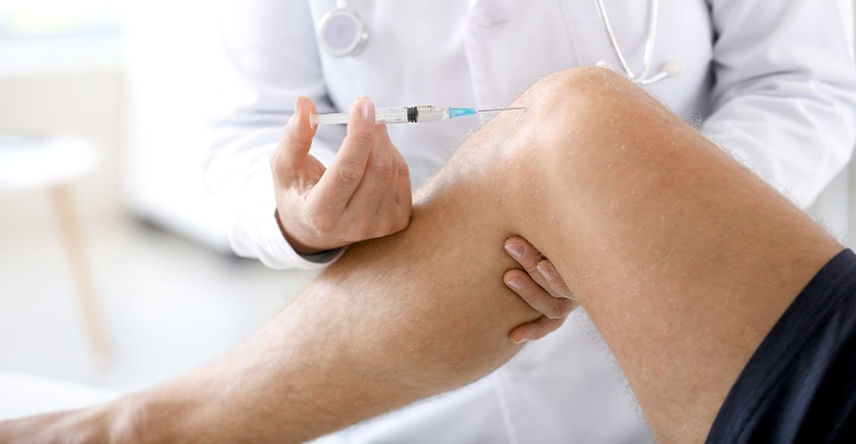 injection of hyularonic acid into the joint with osteoarthritis